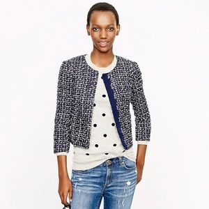 J Crew Midnight Tweed Jacket